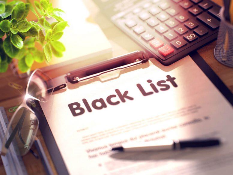 crypto blacklist
